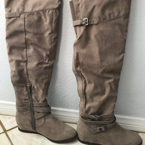 Tan color Aldo over the knee boots